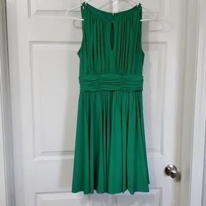 DRESSBARN | Sleeveless Solid Green Dress size 4